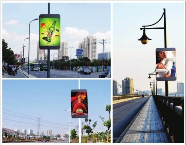 SMD RGB Full Color LED Display Pole Screen P5 Outdoor With 4G Wireless System