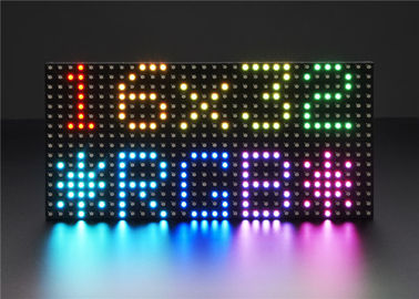 Adjustable 3528 SMD Full Color LED Display Modul Indoor Dot Matrix 32 * 16